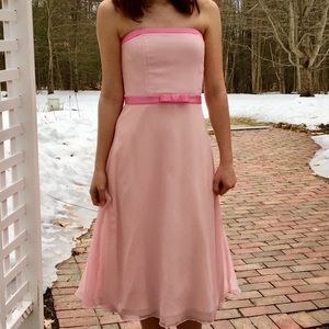 Vintage Bubble Gum Pink Midi Prom Dress Bari Jay
